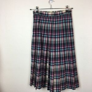 Vintage Pendelton Made in USA Wool Pleated Skirt